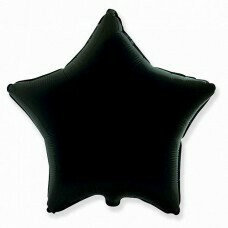 Фольгированная звезда «Чёрный» (81см.)