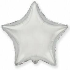 Фольгированная звезда «Серебро» (81см.)