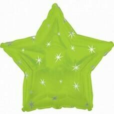 Фольгированная звезда «Искры» Зелёный (46см.)