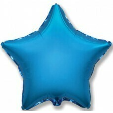 Фольгированная звезда «Синий» (81см.)