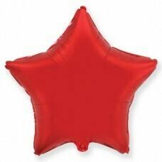 Фольгированная звезда «Красный» (81см.)