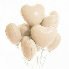 Композиция из воздушных шаров «Сердца белые» 9 шт №180