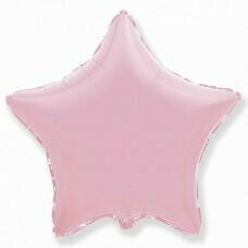 Фольгированная звезда «Розовый» (81см.)