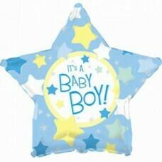 Фольгированная звезда «Baby Boy» Голубой (46см.)