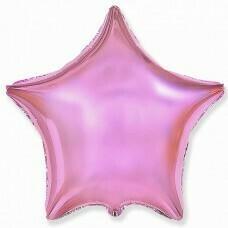 Фольгированная звезда «Светло-розовый» (46см.)