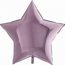 Фольгированная звезда «Сиреневый» (46см.)