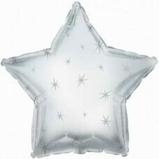 Фольгированная звезда «Искры» Серебро (46см.)