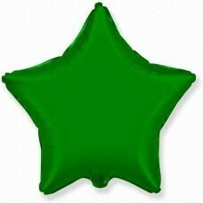Фольгированная звезда «Зелёный» (46см.)