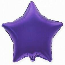 Фольгированная звезда «Фиолетовый» (46см.)