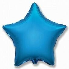 Фольгированная звезда «Синий» (46см.)