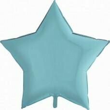 Фольгированная звезда «Голубой» (46см.)
