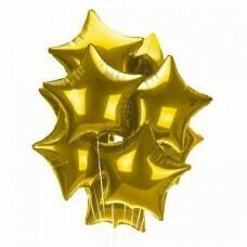 Композиция из 10 фольгированных воздушных шаров «Звёзды для фотосессии-1» №167