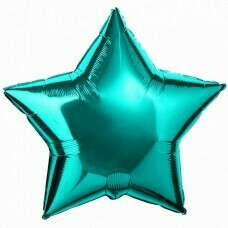 Фольгированная звезда «Бирюзовый» (46см.)