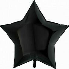 Фольгированная звезда «Чёрная» (46см.)