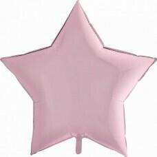 Фольгированная звезда «Розовый» (46см.)