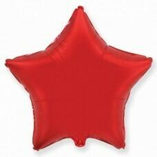 Фольгированная звезда «Красный» (46см.)