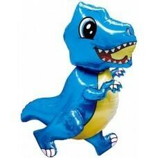 Шар (30''/76 см) Ходячая Фигура, Маленький динозавр, Синий