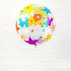 Шар Bubble «Happy Birthday №2»