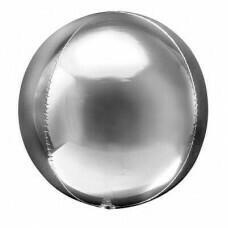 Шар гигант «Фольгированная сфера 3D» Серебро