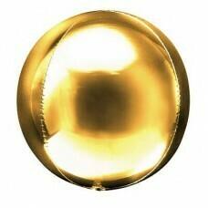 Шар гигант «Фольгированная сфера 3D» Золото