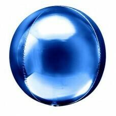 Шар гигант «Фольгированная сфера 3D» Синий