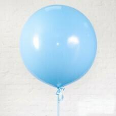 Шар гигант «№11» Голубой 61см