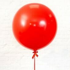 Шар гигант «№9» Красный