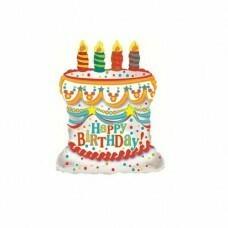 Фигура из Фольги «Торт на День Рождения» (71см.)