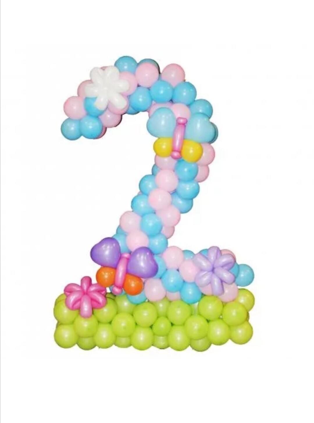 Цифра из шаров 2