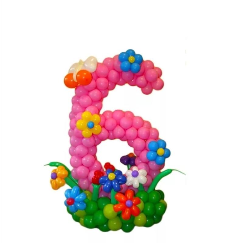 Цифра из шаров 6