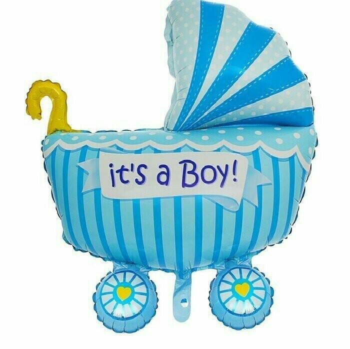 Фигура коляска   для мальчика