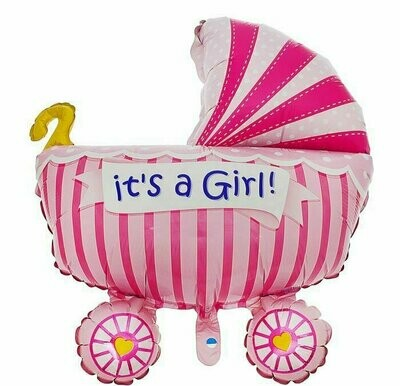 Фигура коляска   для девочки