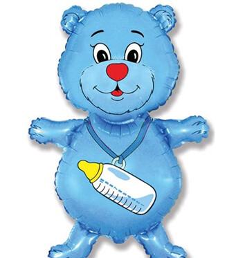 Фигура медвежонок с соской мальчик