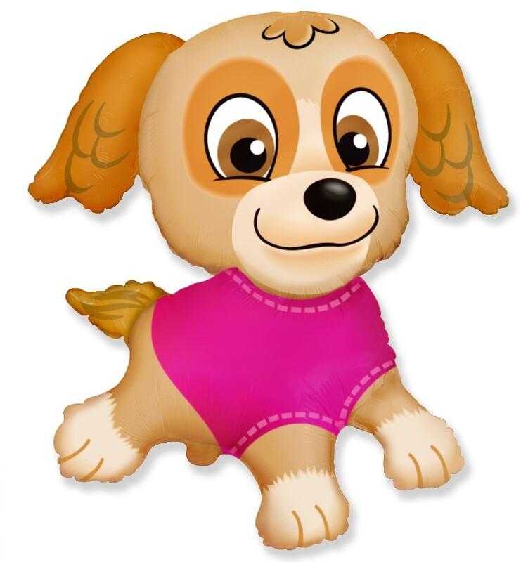 Фигура щенок девочка