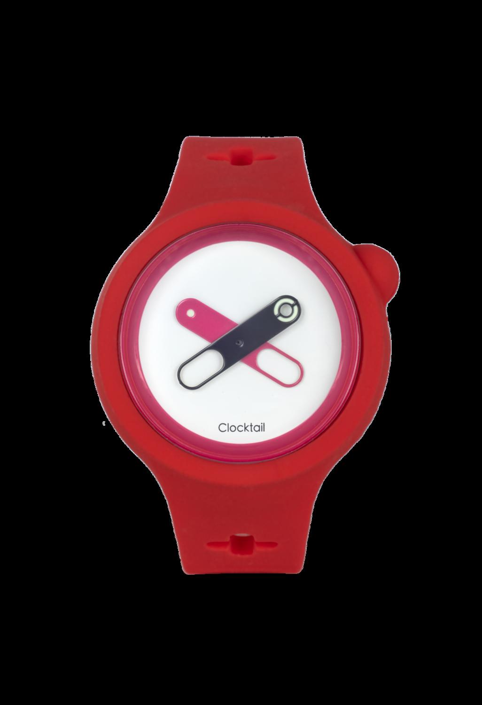 Coral Red - Rosso Corallo - Orologio Design da Polso Uomo - Donna - Anallergico Silicone 100 %