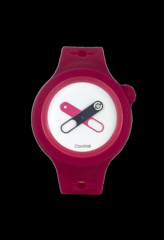 Cherry Bomb - Magenta - Orologio Design da Polso Uomo - Donna - Anallergico Silicone 100 %