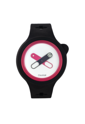 Clocktail Black Coal - Nero - Orologio Design da Polso Uomo - Donna - Anallergico Silicone 100 %
