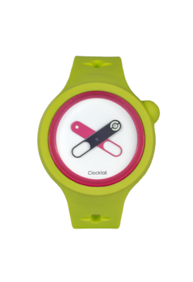 Lime Light - Verde Acido - Orologio Design da Polso Uomo - Donna - Anallergico Silicone 100 %