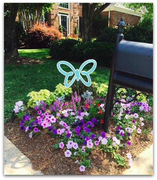 Teal Garden Butterflies
