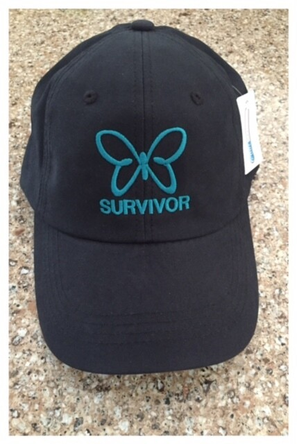 Survivor Teal Butterfly Baseball Cap