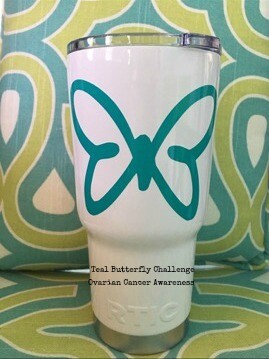 Teal Butterfly Tumbler
