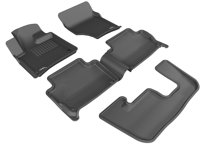 3D MAXpider Complete set AUDI Q7 6 Seater 2006-2015 KAGU Car Floor Mat backing