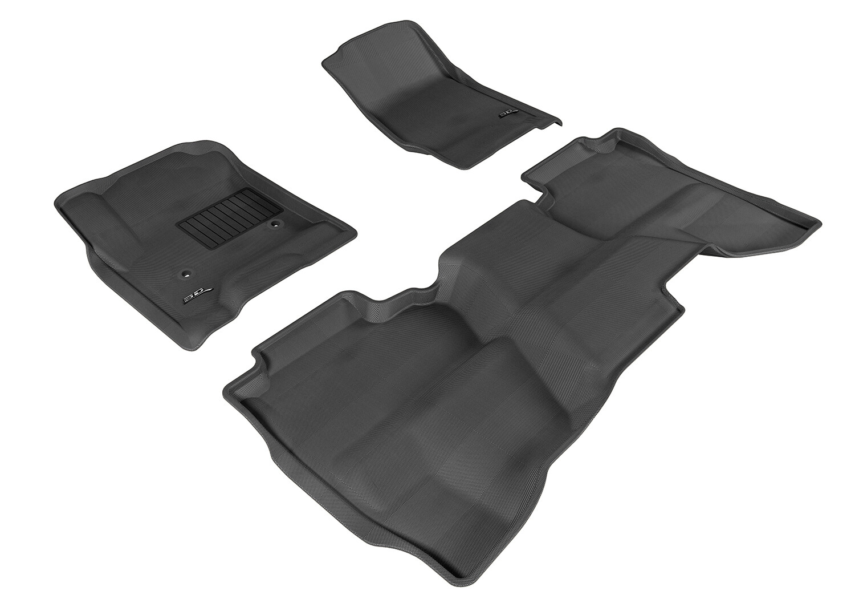 3D MAXpider Complete set CHEVROLET Silverado-1500/2500/3500 Double cab; / GMC - Sierra 1500/2500/3500 Extended Cab; 2014-2019+ KAGU car floor Mat backing