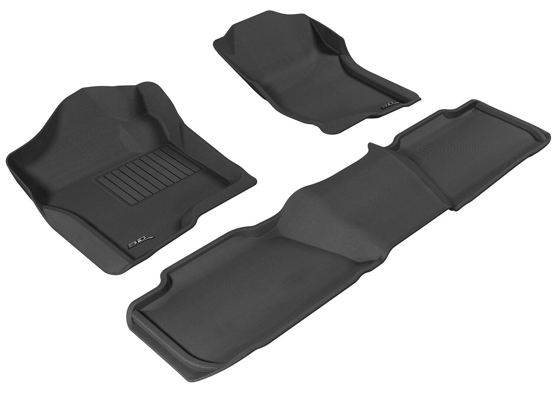 3D MAXpider Complete set CHEVROLET Tahoe 2WD LT / GMC-YUKON DENALI 2011-2014 KAGU Car floor Mat backing