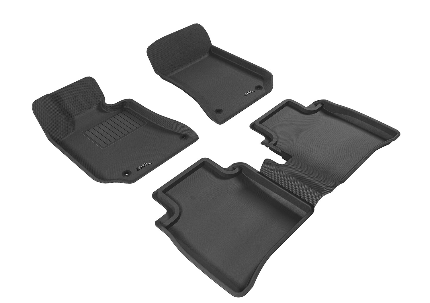 3D MAXpider Complete set MERCEDES BENZ E CLASS Long Axis (W212L), passenger side with retention device KAGU Car floor Mat backing