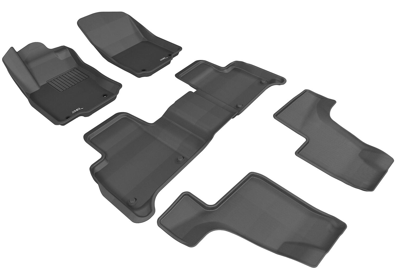 3D MAXpider Complete set MERCEDES BENZ GLS CLASS / GL CLASS (X166) 2013-2019+ KAGU Car floor Mat backing
