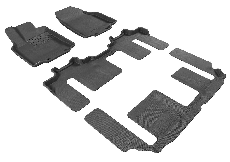 3D MAXpider Complete set MAZDA CX-9 2007-2015 KAGU MAXpider car floor Mat backing