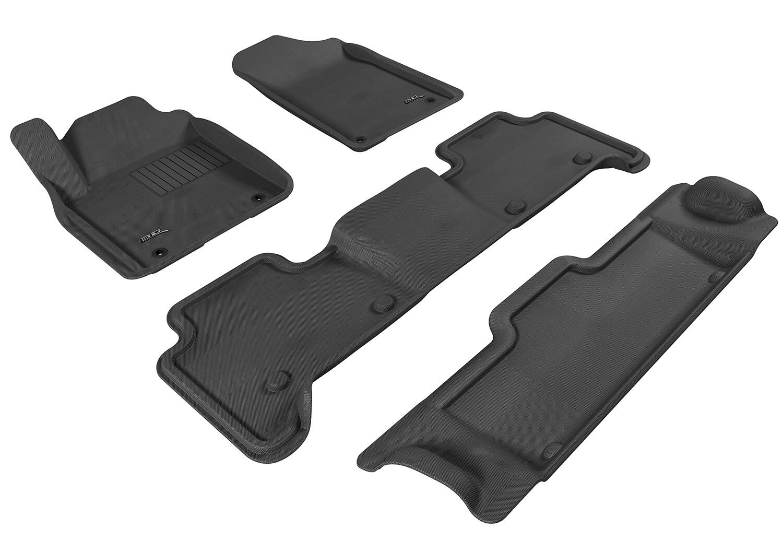 3D MAXpider Complete set INFINITI QX56 (QX80) NISSAN PATROL (Y62) 2011-2019+ KAGU Car floor Mat backing