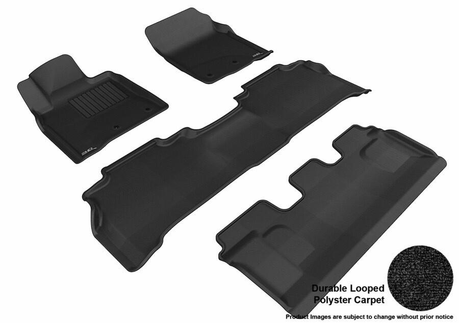 3D MAXpider Complete set TOYOTA LAND CRUISER 200 2008-2012 CLASSIC Car floor Mat Backing