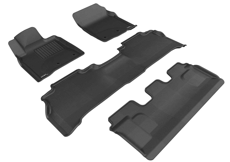 3D MAXpider Complete set TOYOTA Land cruiser 200 2012-2020 KAGU Car floor Mat backing